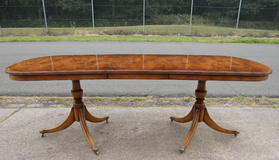 Yew Extending Dining Table To Seat Eigth Ten People By Rackstraw